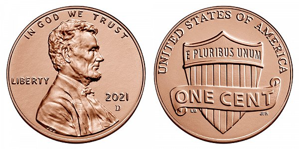 2021 D Lincoln Shield Cent Penny