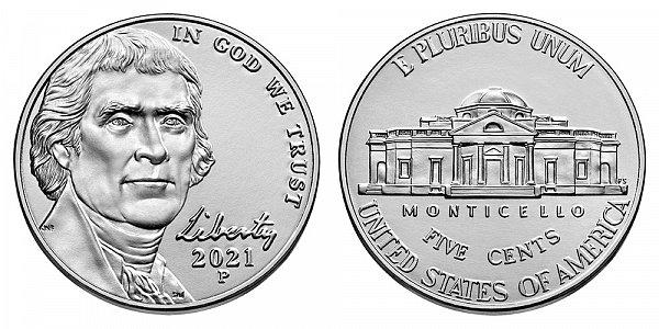 2021 P Jefferson Nickel