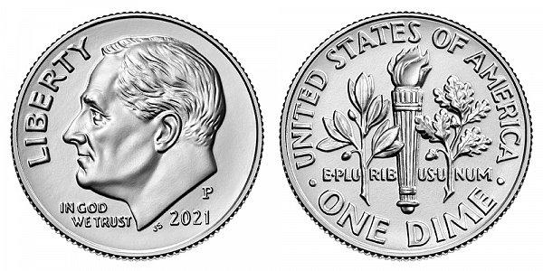2021 P Roosevelt Dime