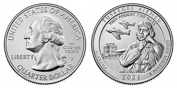 2021 P Tuskegee Airmen Quarter - Alabama