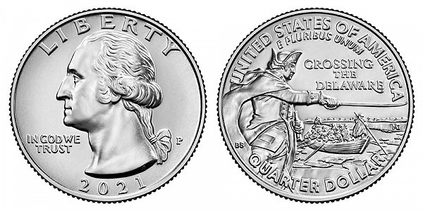 2021 P Washington Crossing The Delaware Quarter