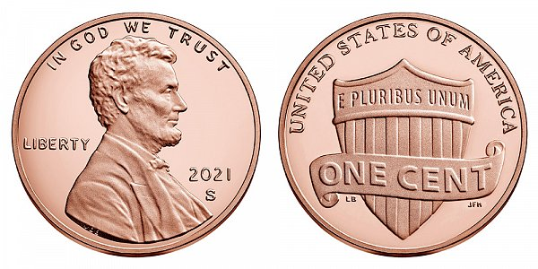 2021 S Proof Lincoln Shield Cent Penny
