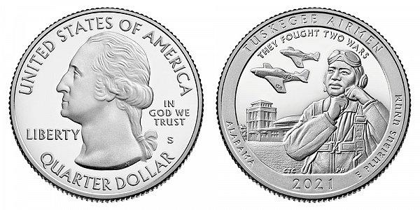 2021 S Proof Tuskegee Airmen Quarter - Alabama