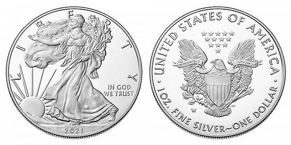 2021 W Proof American Silver Eagle