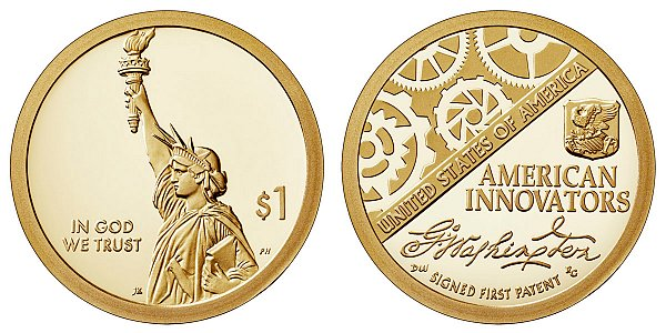 2018 S Proof American Innovation Dollar - American Innovators Introductory Coin