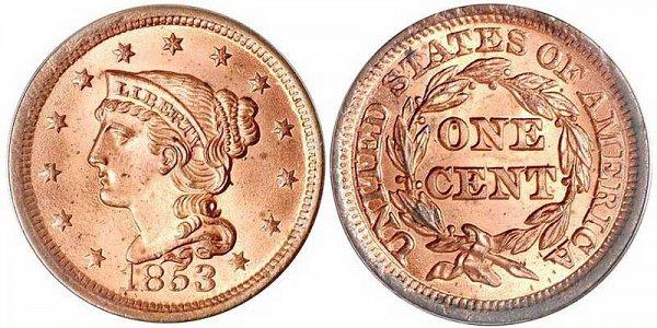 Gobrecht Braided Hair Liberty Large Cent