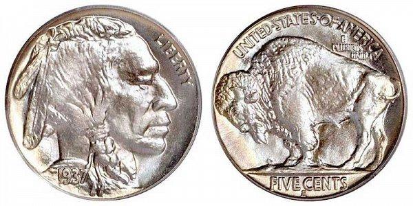 Buffalo Nickel or Indian Head Nickel - Line Type II
