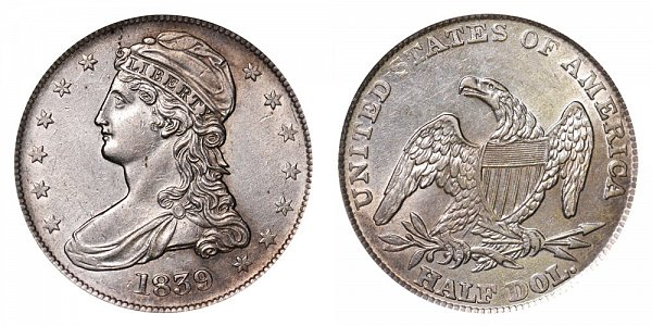 1839 Capped Bust Half Dollar
