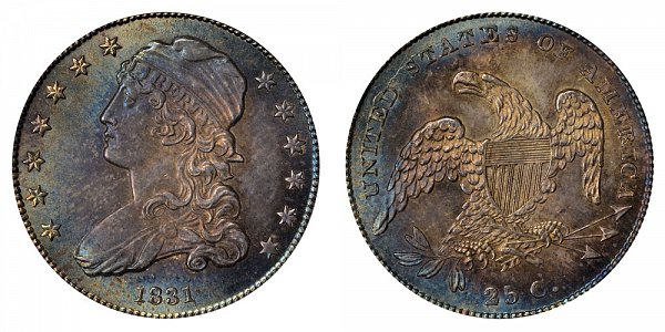1831 Capped Bust Quarter - Small Letters