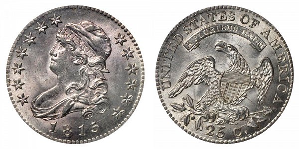 Capped Liberty Bust Silver Quarter by John Reich