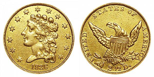 $2.50 Gold Classic Head Liberty Quarter Eagle