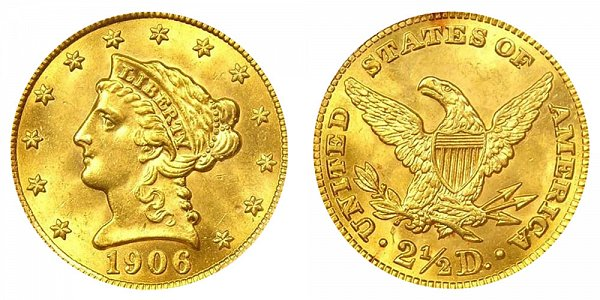 Coronet Head Gold $2.50 Quarter Eagle Liberty Head - Early Matron Gold Coins US Coin