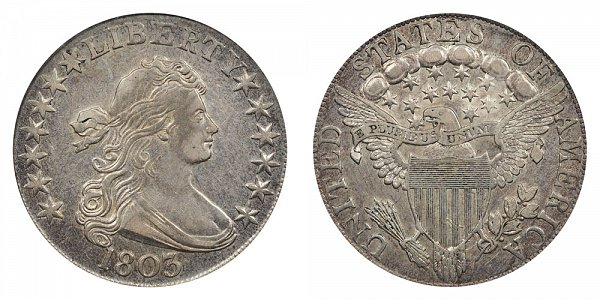 Robert Scot - Draped Bust Half Dollar, Heraldic Eagle Reverse Design