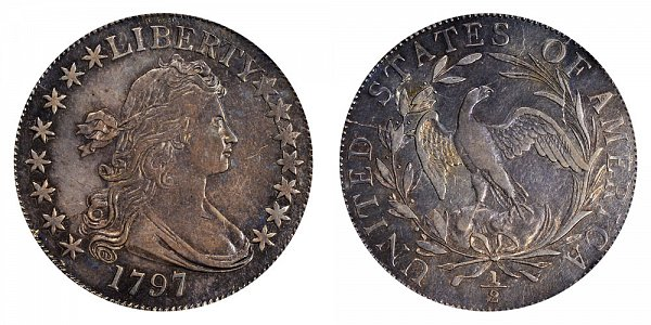 1797 Draped Bust Half Dollar - 15 Stars