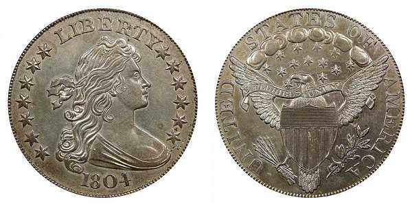 Robert Scot - Draped Bust Silver Dollar, Heraldic Eagle Reverse Design