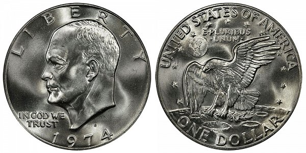 Eisenhower Dollars Clad Composition US Coin