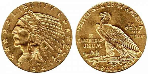 $5 Gold Indian Head Half Eagle