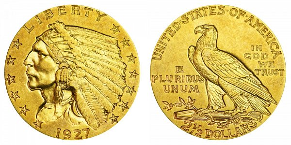 1927 Indian Head $2.50 Gold Quarter Eagle - 2 1/2 Dollars
