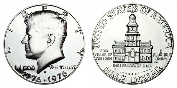 1776-1976 S Bicentennial Kennedy Half Dollar Proof
