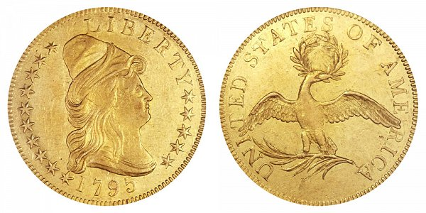 1795 9 Leaves -Turban Head $10 Gold Eagle - Ten Dollars
