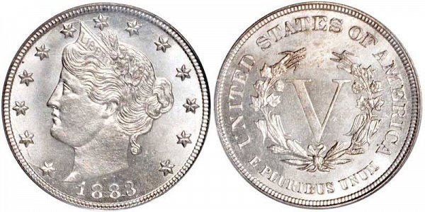 Liberty Head 'V' Nickel