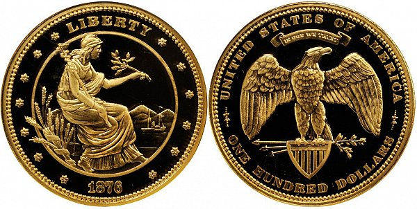 Morgan's $100 Dollar Gold Union Coin