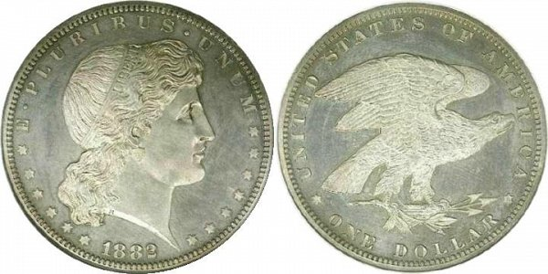 Morgan's Shield Earring Dollar Pattern Coin