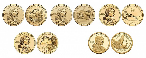 Native American & Sacagawea Dollars Native American Dollars US Coin