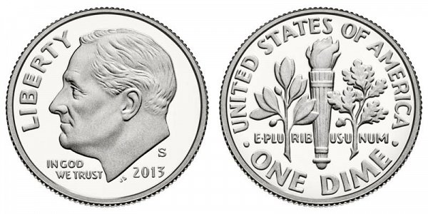2013 S Proof Roosevelt Dime