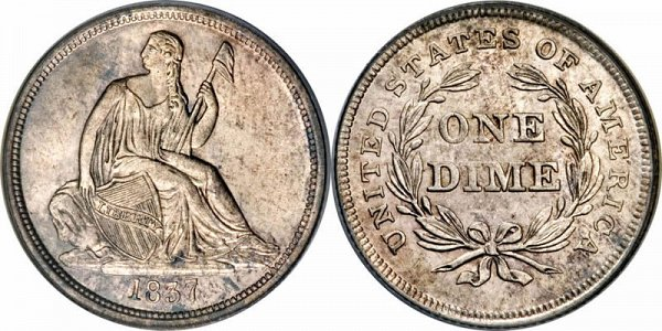 Gobrecht Silver Seated Liberty Dime