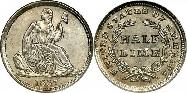 Gobrecht Silver Seated Liberty Half Dime
