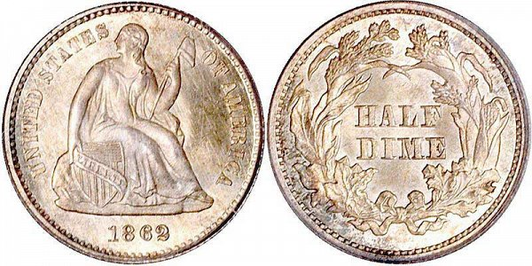 Seated Liberty Half Dimes Type 4 - Legend on Obverse US Coin