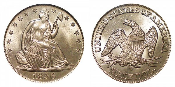 Seated Liberty Half Dollars Type 1 Resumed - No Motto Above Eagle - No Arrows At Date US Coin