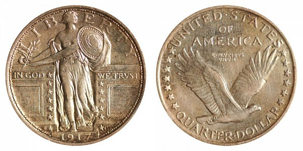 Standing Liberty Quarters Type 1 US Coin