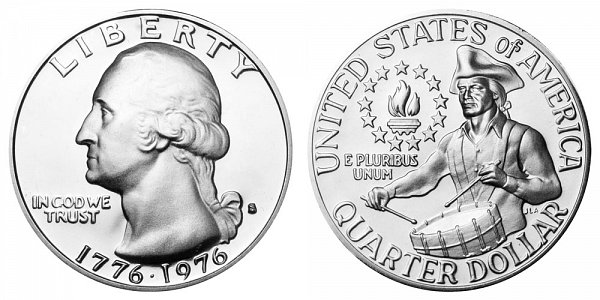 1776-1976 S Bicentennial Washington Quarter - 40% Silver Special Mint Edition