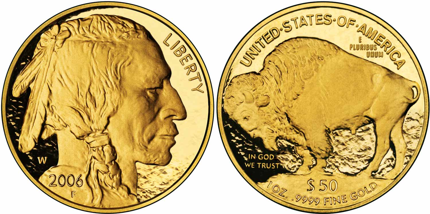 Gold American Buffalo Bullion Coins 5 Tenth Ounce 24 Karat Us Coin