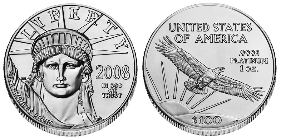10 American Platinum Eagle Tenth Ounce