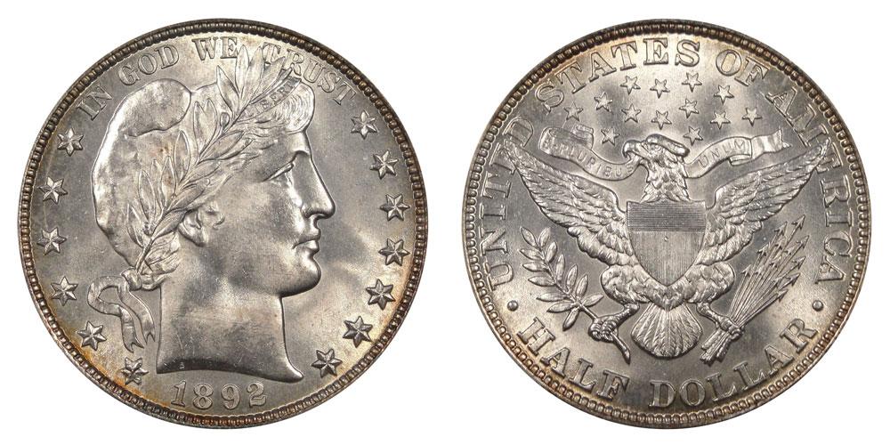 1893 barber half dollar value