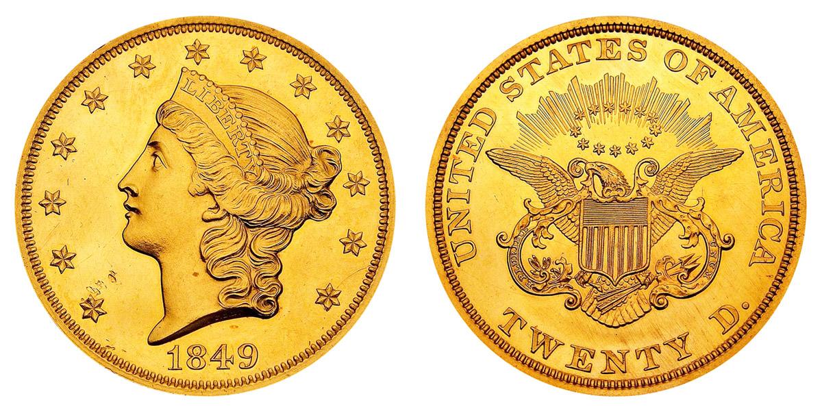 Coronet Head Gold 20 Double Eagle