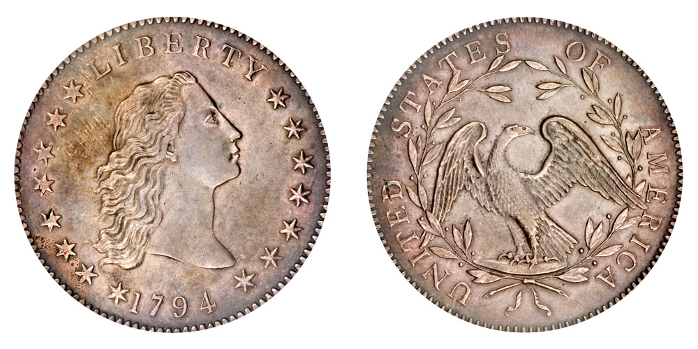1794 Flowing Hair Silver Dollar Coin Value Prices, Photos & Info