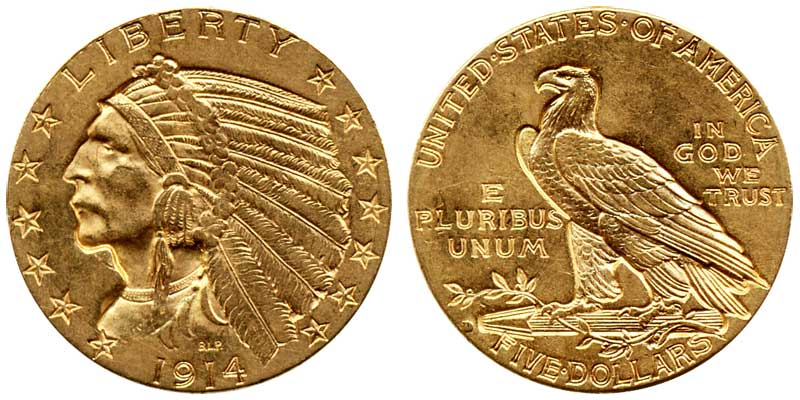 Indian Head Gold 5 Half Eagle