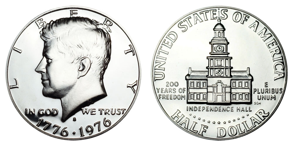 1976 S Kennedy Bicentennial Half Dollar Coin Value Prices