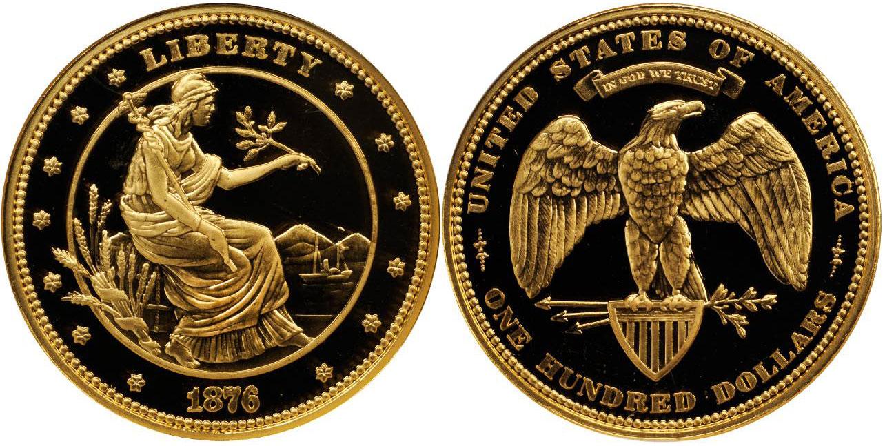 Morgan S 100 Dollar Gold Union Coin
