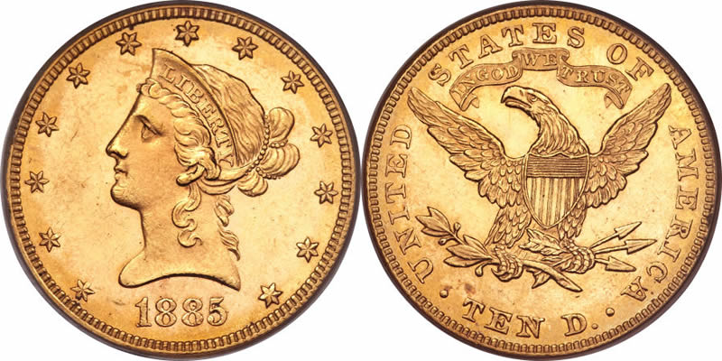 Coronet Head Gold 10 Eagle Price Charts Amp Coin Values