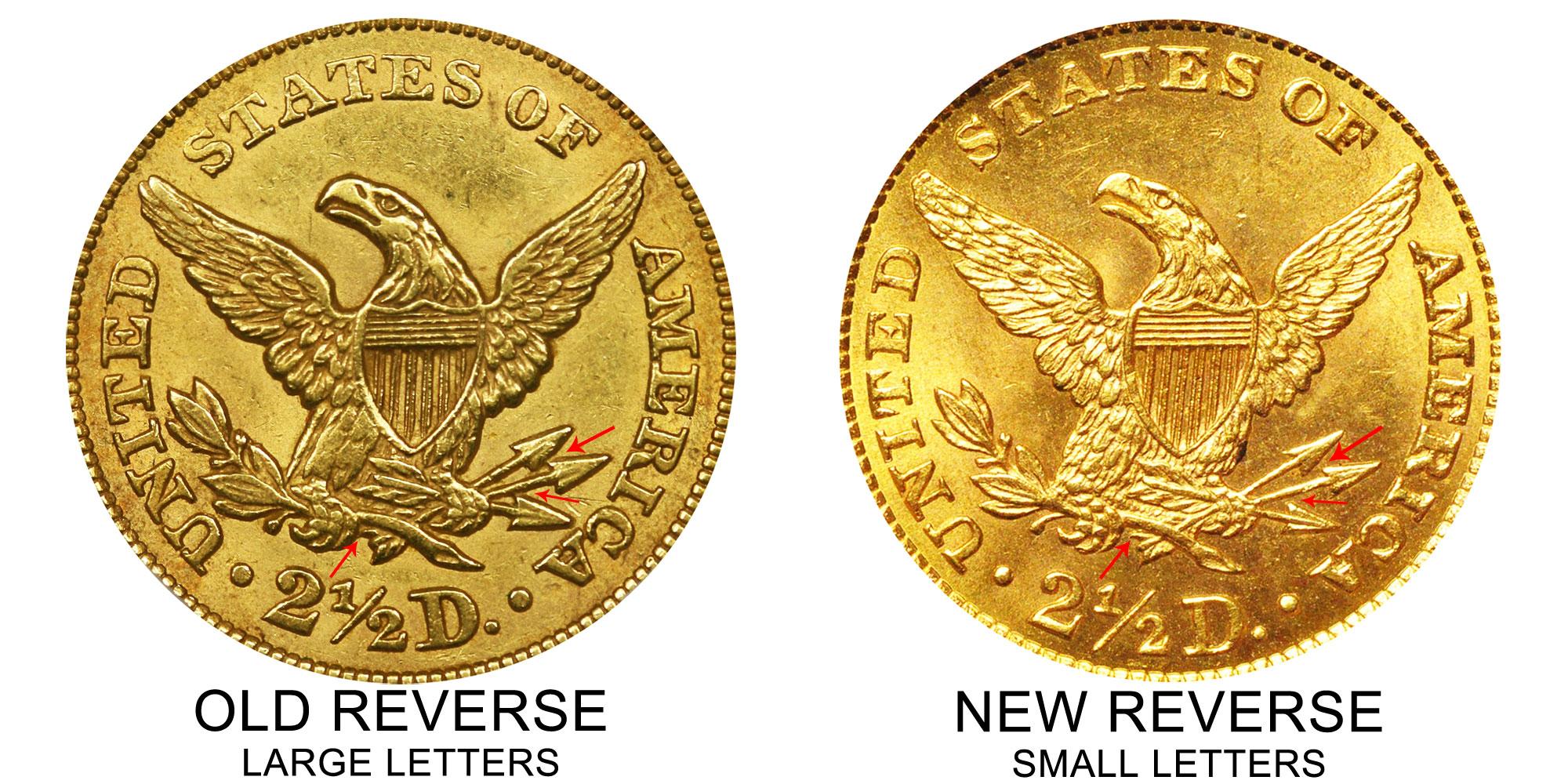1860 Coronet Head Gold 2 50 Quarter Eagle Old Reverse