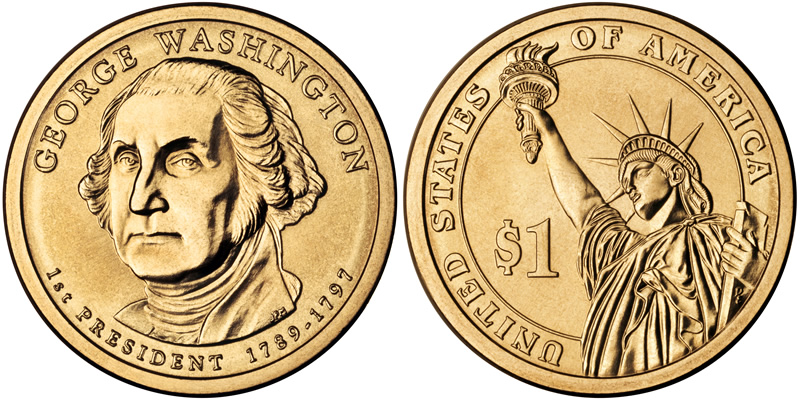 Presidential Dollars Golden Dollar Us Coin