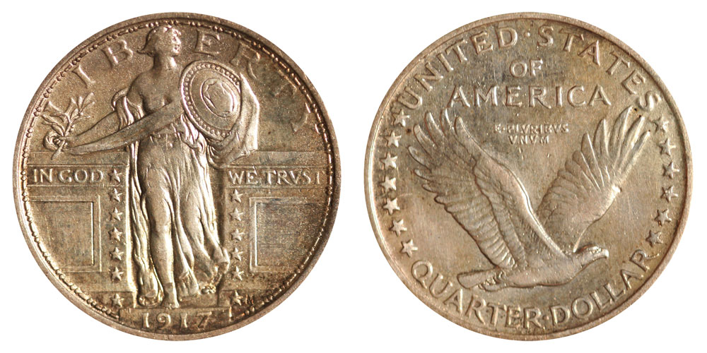 1917 Standing Liberty Quarter Type 1 Coin Value Prices