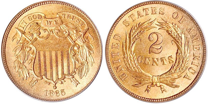 Two Cents Us Coin Prices And Values